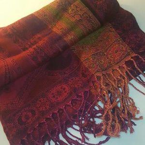 Accessories - 3/ $10 Oriental Tapestry Print Scarf/Shawl